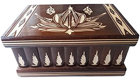 New big huge box wooden puzzle box secret mystery wizard treasure magic box,jewelry box case handcarved wooden storage box carved box wooden toy for kids