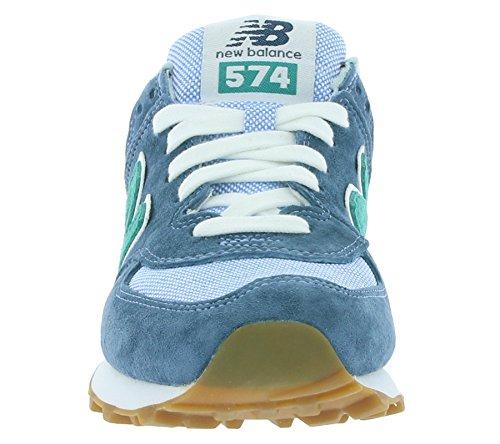 New Balance Herren Ml574 Lauflernschuhe Sneakers ozeanblau / türkis