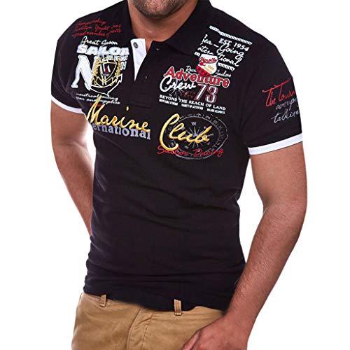 56f12a631 Polos Manga Corta Hombre Casual SHOBDW 2019 Camisetas Hombre Manga Corta  Botón Tallas Grandes.