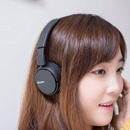 Sony MDR-ZX110 On-Ear Stereo Headphones (Black) Image 5