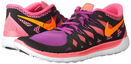 NikeFree 5.0, Hausschuhe für Jungen und Mädchen, rosa - Rosa(black/total orange/pink pow/berry) - Größe: 38,5 EU