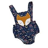 Fossen Bebe Peleles Patrón de Fox Monos para Recien Nacido Niña Niño 0-24 Meses Ropa Verano (12-18 Meses, Gris)
