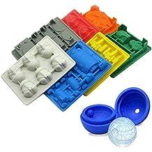 Bandeja de hielo de ladrillos Silly Lego para cubitos de hielo, moldes de dulces,