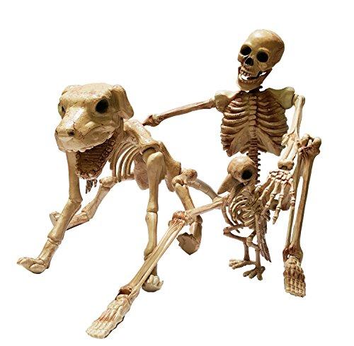 Cultica Halloween Skelett Trio Menschen Skelett Hunde Skelett -