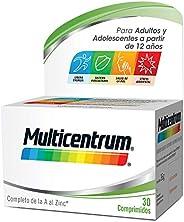 Multicentrum, Complemento Alimenticio con 13 Vitaminas y 11 Minerales, para Adultos y Adolescentes a partir de