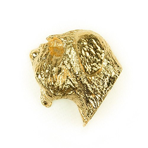 Bouvier des Flandres Hergestellt in U.K. Kunstvolle Hunde- Anstecknadel Sammlung (22 Karat Vergoldung / gold plattiert) -