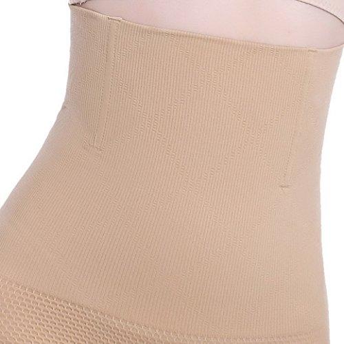 Aivtalk Damen Miederslip Shapewear Nahtlos Unterhose Bauchweg Taillenslips Postnatal Erholung Damenhose Taillenformer Slimming Taillenmieder (Farbe/Größe Wählbar) Beige