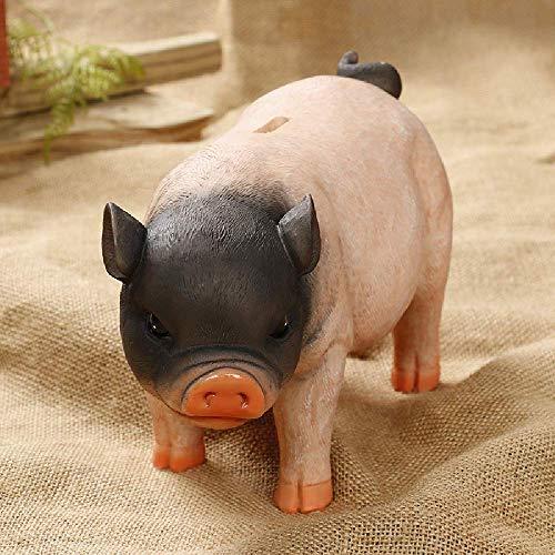 eTACH 26 x 11 x 15 cm Wohnaccessoires Spardose Schweinchen Skulpturen & Statuen Schwein Schwein Spardose Münzen Aufbewahrungsboxen Home Decor Ornament Große Kapazität, Multi