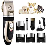 Pet Grooming Clippers TOPOP Lithium Battery Rechargeable Dog Clippers 4 Comb Guides Pet