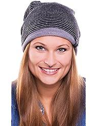 Chapeau Moritz - Tendance à long Bonnet pour les hommes et les femmes à la tête circonférence 57cm - unisexe, 2014, Croco (gris / noir)