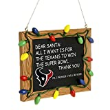 Houston Texans Official NFL 3 inch x 4 inch Chalkboard Sign Christmas Ornament