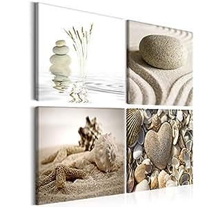 Bild auf leinwand 4 teilig wandbilder - Wandbilder amazon ...