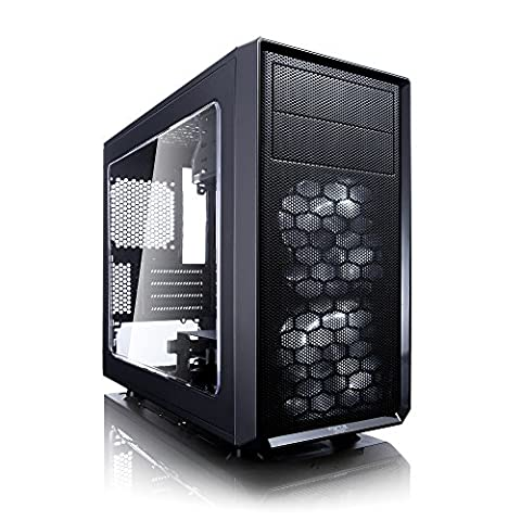 Fractal Design Focus G Mini Front PC Computer Case with Window, USB 3.0/2.0 and Audio Jacks - Black