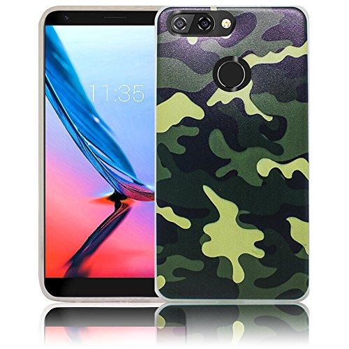 ZTE Blade V9 Camouflage Handy-Hülle Silikon - staubdicht, stoßfest & leicht - Smartphone-Case thematys