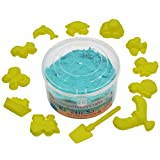 #8: AsianHobbyCrafts Kinetic Sand with 12 Sea C Shaping Tools: Color - Blue : Wt - 500gm : for Sand Modeling, Kids' Activities, DIY Crafts