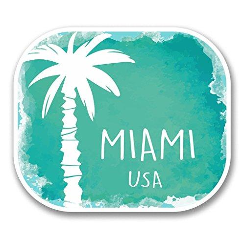 Miami Notebook Skin (2 x 15cm/150mm Miami USA Vinyl SELBSTKLEBENDE STICKER Aufkleber Laptop reisen Gepäckwagen iPad Zeichen Spaß #6347)