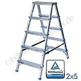 Aluminium-Klapptritt Leiter 3 Stufen Leiter 2x5 Stufen