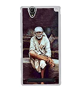 Sai Baba 2D Hard Polycarbonate Designer Back Case Cover for Sony Xperia T2 Ultra :: Sony Xperia T2 Ultra Dual SIM D5322 :: Sony Xperia T2 Ultra XM50h