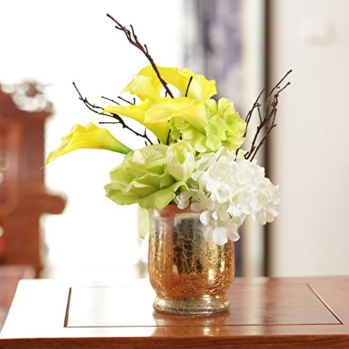 Jhdh2-continental Ice Crack Glass Vase Of Transparent Water Container Ornaments, Flower 7