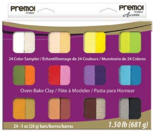 1 Akzent (Polyform Premo Sculpey Akzente Polymer Clay Pack 1Oz 24kg)