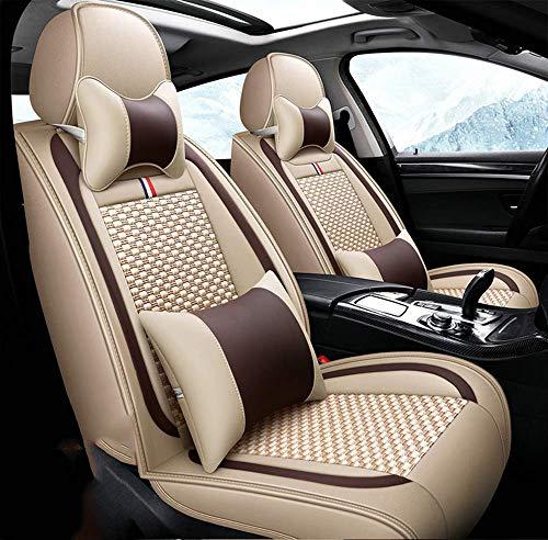 Preisvergleich Produktbild Wsjfc Autositzbezug,  Car Styling für BMW F10 F11 F15 F16 F20 F25 F30 F34 E60 E70 E90 1 3 4 5 7 Serie Gt X1 X3 X4 X5,  Braun, Beige