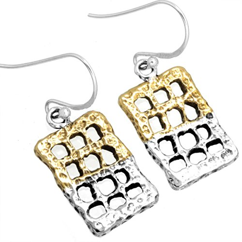 Solid 925 Sterling Silver Handcrafted Jewelry Plain Brass Dangle Earring  available at amazon for Rs.871