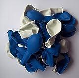 50 blau weiße Luft-Ballons-Feier-Deco-Geburtstag-Fete-Helium-geeignet EU Ware vom Sachsen Versand