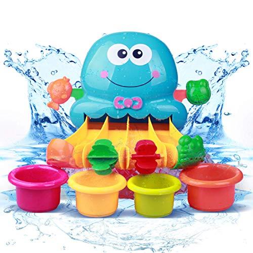 OleOletOy Baby Badespielzeug, Badewanne Wasserpark mit Saugnapf, Lustiger Wasserfall mit kontrollierbarem Ventil. Instruktiv Badewannenspielzeug ab 1 Jahr