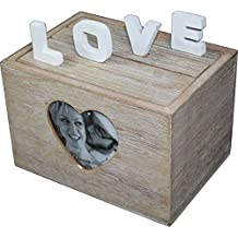 Caja de madera caja de sujeción de fotos álbum de boda ...