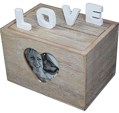 Scatola di legno hold frame photo album di scatola regalo di nozze love