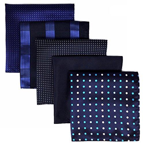 Shlax&Wing, 5Stück sortierte Taschentücher für Herren, quadratisch Gr. Einheitsgröße, Set04 -