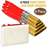 6 Piece Premium,trim paint brush,paint brushes,paintbrushes,paint tools,paint edger,paint tools