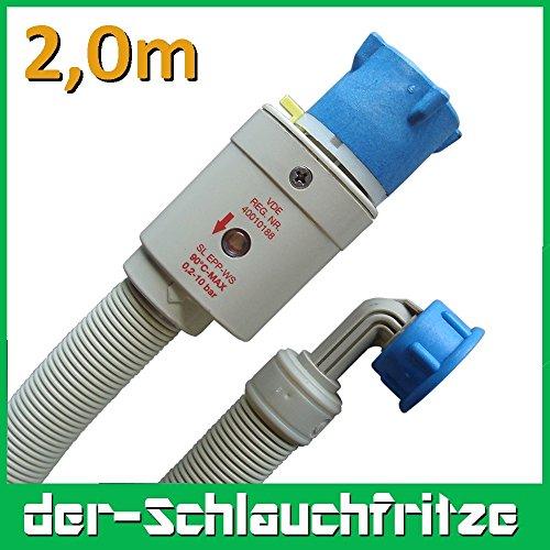 Aquastop Schlauch/Aquastop/Sicherheitszulaufschlauch für Waschmaschine und Geschirrspüler, 2m