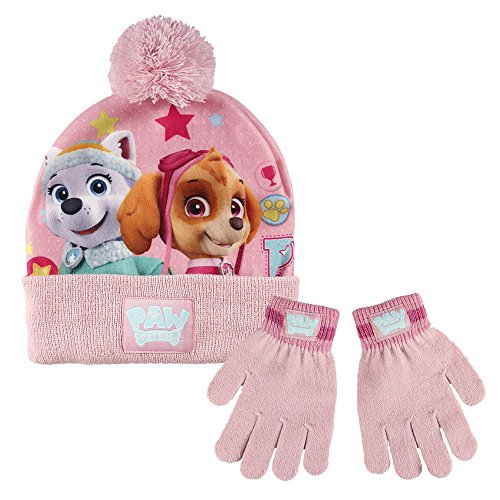 Paw patrol 2200001758 skye e everest - set invernale per bambini, con berretto e guanti (taglia unica)