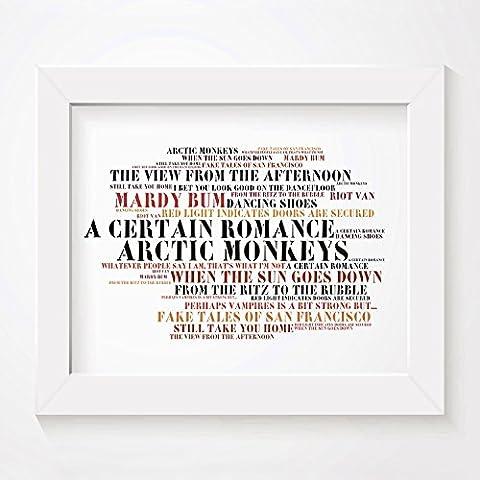 `Stoned Love` Kunstdruck Poster - Arctic Monkeys - Whatever People Say I Am, That's What I'm Not - Unterzeichnet und Nummerierten Limitierte Auflage Typografie Ungerahmt 25 x 20 cm (10 x 8 inch) Wand Kunst Druck Text Lyrisch Grafik Plakat - Song Lyrics Art Print Poster