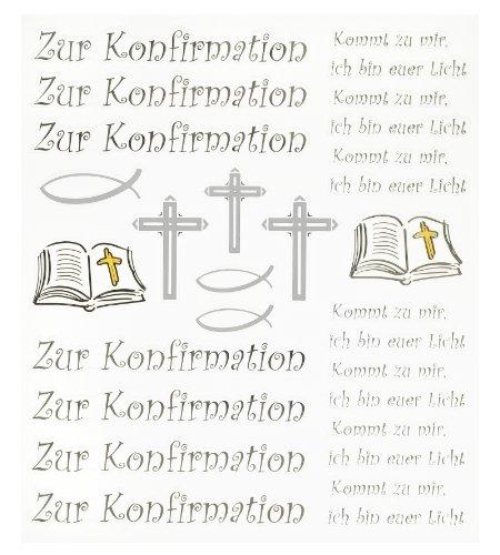 Hobby Design Sticker * Zur Konfirmation * Aufkleber