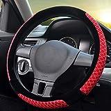 Maerye Coprivolante per auto peluche antiscivolo protezione per volante invernale universale 38 cm / 15 pollici