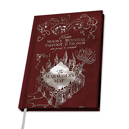 ABYstyle - Harry Potter - Cuaderno A5 - Mapa Merodeador