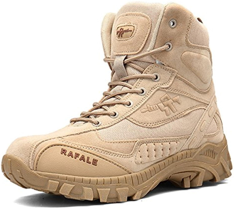 SANANG Herren Mid High Militär Schnuumlrstiefel Durable Army Combat Schuhe Atmungsaktiv Taktische Wuumlste Wandern Boot