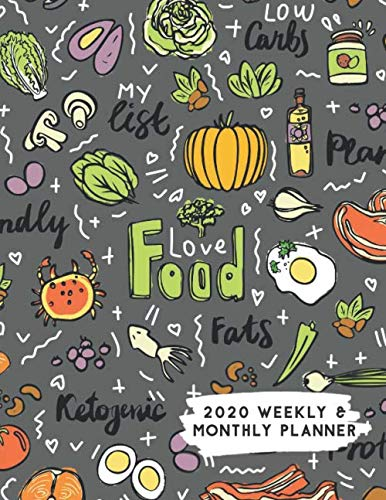 Calendario Serie A 2020 12.2020 Weekly Monthly Planner Food Lover Keto Themed Calendar Journal
