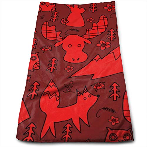 Kaixin J Mountain Animals_11754 Microfiber Bath Towels,Soft, Super Absorbent and Fast Drying, Antibacterial, Use for Sports, Travel, Fitness, Yoga 12 * 27.5 Inch -