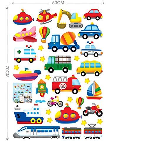 Wallfia See-, Land- Und Lufttransport Dekoration Diy Büro Kinderzimmer Pvc Wohnzimmer Schlafzimmer Wasserdichte Wandaufkleber Geschenke Selbstklebende Wandbilder