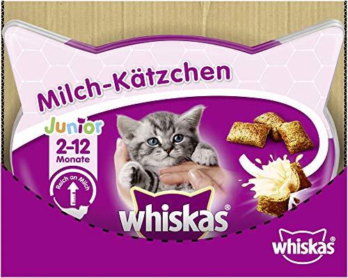 Whiskas Milch-Kätzchen - Köstliche Katzensnacks für 2-12 Monate alte Katzen - Leckerlis für ein gesundes Wachstum - Vorratspack mit 6 Packungen x 66g