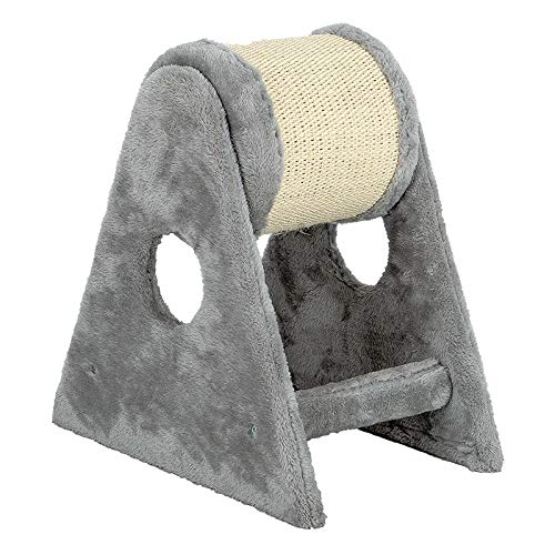 Hongge Cat Tree, Sisal Double-Axis Roller Cat Play Tower Decorative  Furniture 41 5x39x27cm