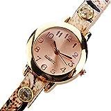 Aberimy Clearance Damen Armbanduhr Quarzuhr Fashion Style Strass Rivet Kette Quartz Armband Armbanduhr Uhr