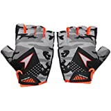 Sportigoo CAMO Cycling Glove - Grey/Orange