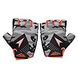 #6: Sportigoo CAMO Gym, Exercise & Fitness Men & Women Gloves - Grey/Orange