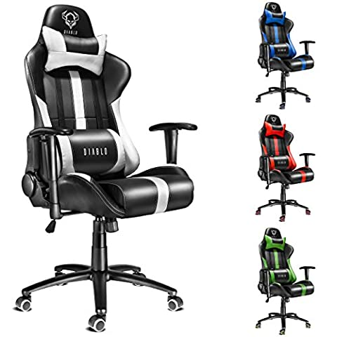 Diablo X-Player Drehstuhl, Chefsessel, Zocker Stuhl, Bürostuhl mit Armlehnen, Gaming