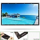 HENZIN Tragbare Beamer Leinwand 100 Zoll 16:9 Format 3D HD für Heimkino/PPT-Präsentation/Outdoor