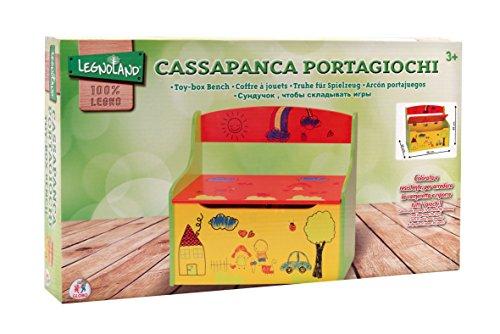 Legnoland - Cassapanca Portagiochi in Legno